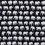Elefant Tyg Svart