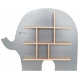 Elefant Vägghylla Grå