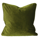Elise Sammet Kuddfodral Mossgrön 45x45