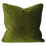 Elise Sammet Kuddfodral Mossgrön 60x60