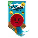 Emoji Angry Kattleksak Röd