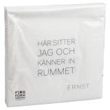 Ernst Servett Citat Rum/Tid Vit
