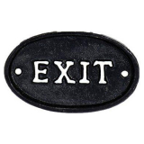 Exit Skylt Svart