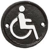 Facia Handikapp Skylt Svart
