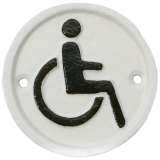 Facia Handikapp Skylt Vit
