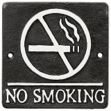 Facia No Smoking Skylt Svart