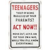 Facia Teenagers Skylt Vit