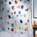 Fish Duschdraperi Transparent