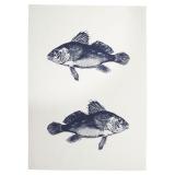 Fish Kökshandduk Blå