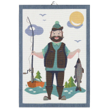 Fishing Man Kökshandduk Multi