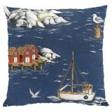Arvidssons Textil Fiskeskär Kuddfodral Marin