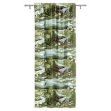 Arvidssons Textil Fjällvandring Gardin Grön
