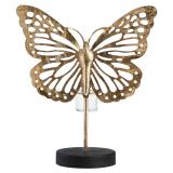 Fjäril Ljusstake Guld