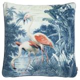 Flamingo Kuddfodral Sammet Petrol