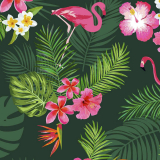 Sovtex Flamingo Vaxduk Grön