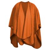 Fleeceponcho Orange