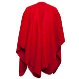 Fleeceponcho Röd