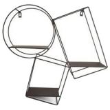 Geometrisk Vägghylla Svart