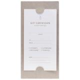 Gift Certificate Kort 5-pack