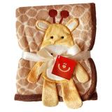 Giraff Fleecefilt Brun/Gul