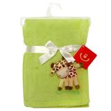 Giraff Fleecefilt Grön