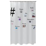 Hashtag Duschdraperi Transparent
