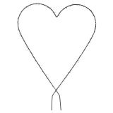 Hjärta Spalje Grå