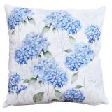 Hortencia Kuddfodral Blommigt Blå