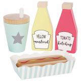 Hot Dog Meal Leksaksmat Trä