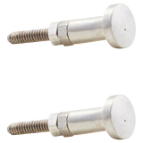 House Doctor Knopp Rund 2-pack Silver