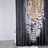 Nina Royal Jaguar Duschdraperi Svart