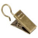 Klämma Till Metallring Antikmässing