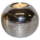Klot Ljusstake Silver
