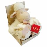 Lamm Gosedjur och Fleecefilt Offwhite