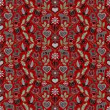 Leksand Textilvaxduk Röd