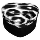 Gilbert Leopard Smyckeskrin Sammet Svart/Vit