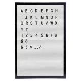Letterboard Tavla Svart/Vit