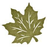 Lönn Löv Bordstablett Grön