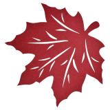 Lönn Löv Bordstablett Röd