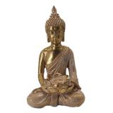 Lotus Mediterande Buddha Prydnad Guld
