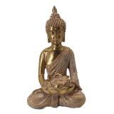 Lotus Sittande Buddha Prydnad Guld