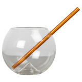 Magaluf Glas Med Sugrör 2-Pack Brun