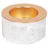 Marble Ljushållare Vit/Mässing