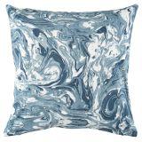 Marmor Abstrakt Kuddfodral Blå