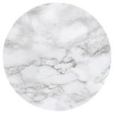 Marmor Rund Vaxduk Ljusgrå