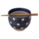 Masami Skål med Ätpinnar Blå
