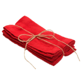 Meja Tygservett Röd 2-pack