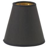 Metallinsida Lampskärm Toppring Svart/Guld