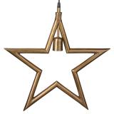 Metallstjärna Fönsterlampa Råmässing