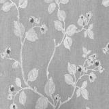 Moody Liten Blomma Textilvaxduk Grå